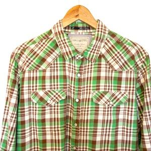 Heritage 1981 Men Size L Shirt Western Pearl Snap